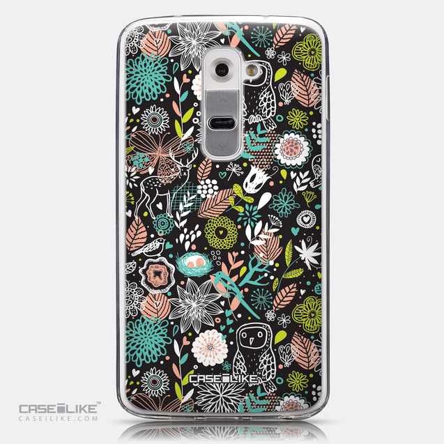 CASEiLIKE LG G2 back cover Spring Forest Black 2244