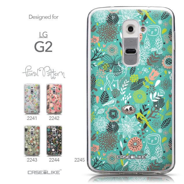 Collection - CASEiLIKE LG G2 back cover Spring Forest Turquoise 2245