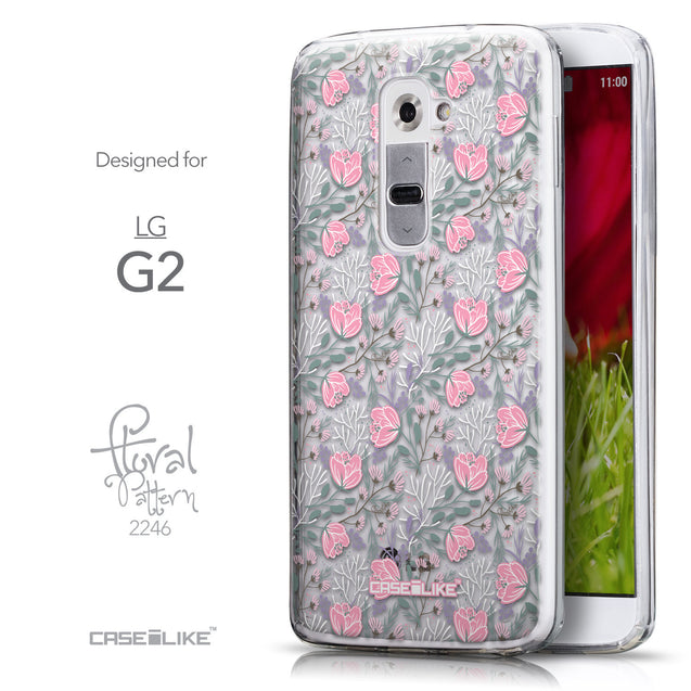 Front & Side View - CASEiLIKE LG G2 back cover Flowers Herbs 2246