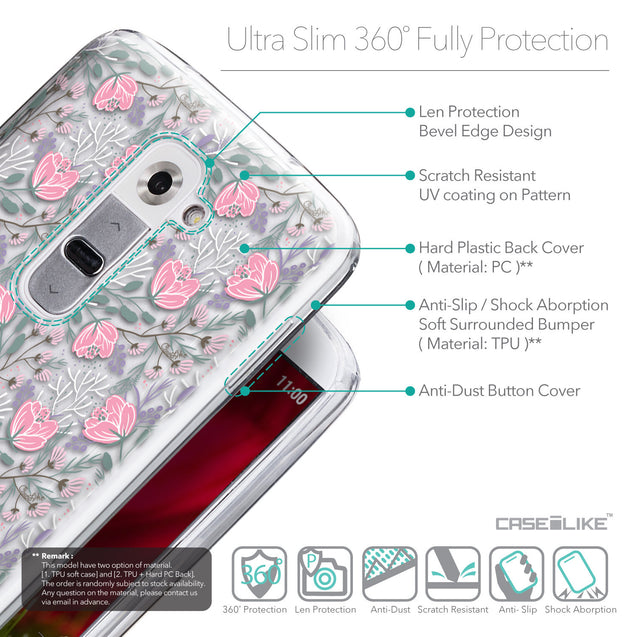 Details in English - CASEiLIKE LG G2 back cover Flowers Herbs 2246