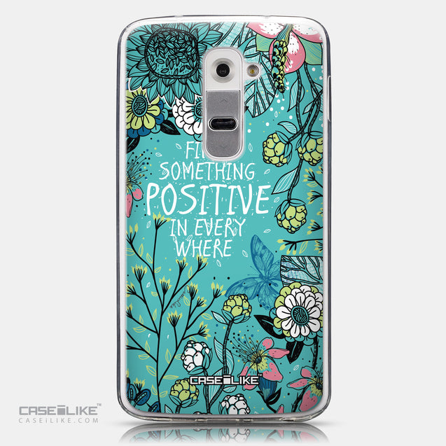 CASEiLIKE LG G2 back cover Blooming Flowers Turquoise 2249