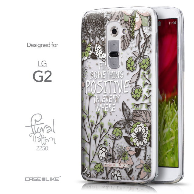 Front & Side View - CASEiLIKE LG G2 back cover Blooming Flowers 2250