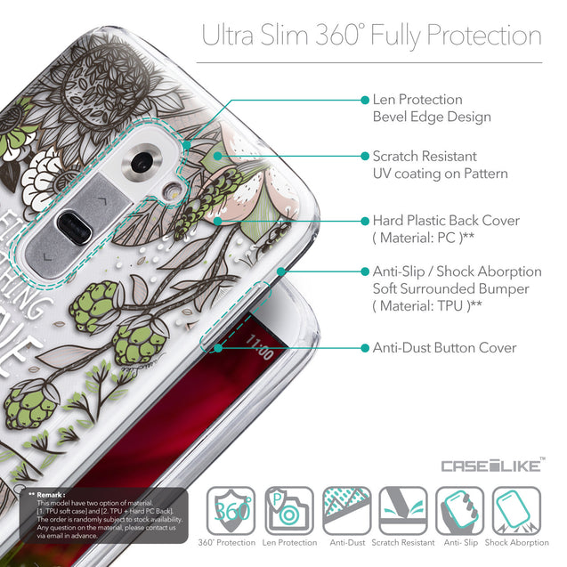 Details in English - CASEiLIKE LG G2 back cover Blooming Flowers 2250