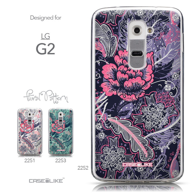 Collection - CASEiLIKE LG G2 back cover Vintage Roses and Feathers Blue 2252