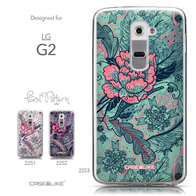 Collection - CASEiLIKE LG G2 back cover Vintage Roses and Feathers Turquoise 2253