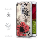 Front & Side View - CASEiLIKE LG G2 back cover Japanese Floral 2254