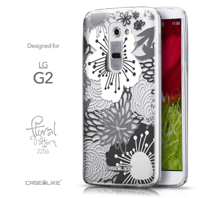 Front & Side View - CASEiLIKE LG G2 back cover Japanese Floral 2256