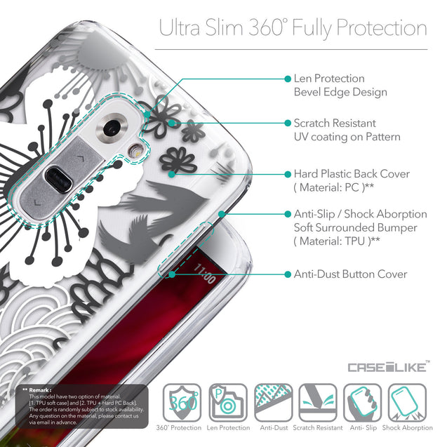 Details in English - CASEiLIKE LG G2 back cover Japanese Floral 2256