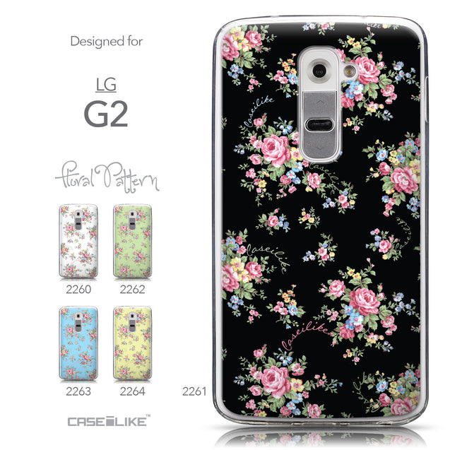 Collection - CASEiLIKE LG G2 back cover Floral Rose Classic 2261