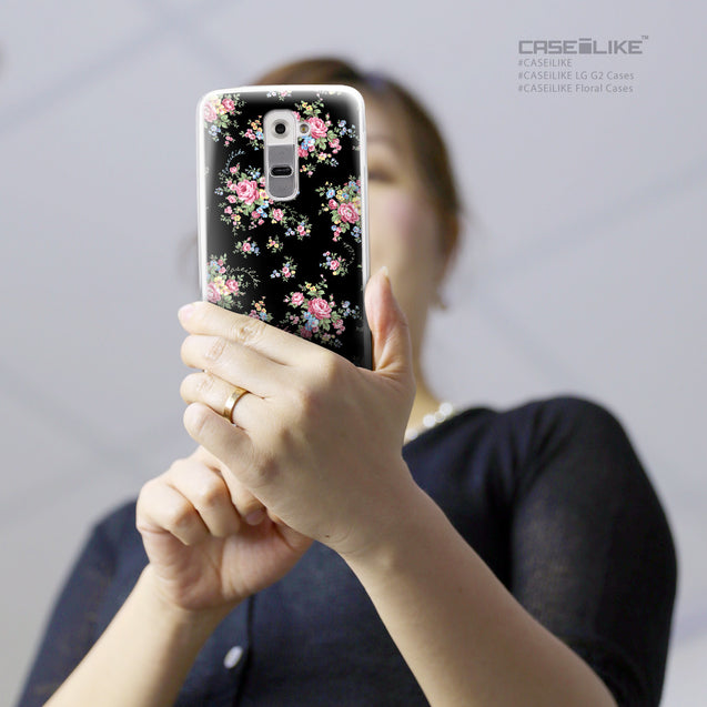 Share - CASEiLIKE LG G2 back cover Floral Rose Classic 2261