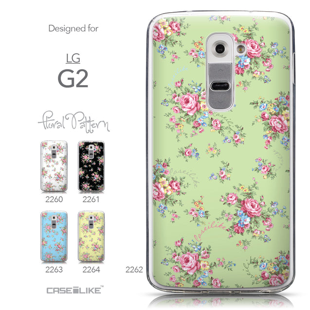 Collection - CASEiLIKE LG G2 back cover Floral Rose Classic 2262