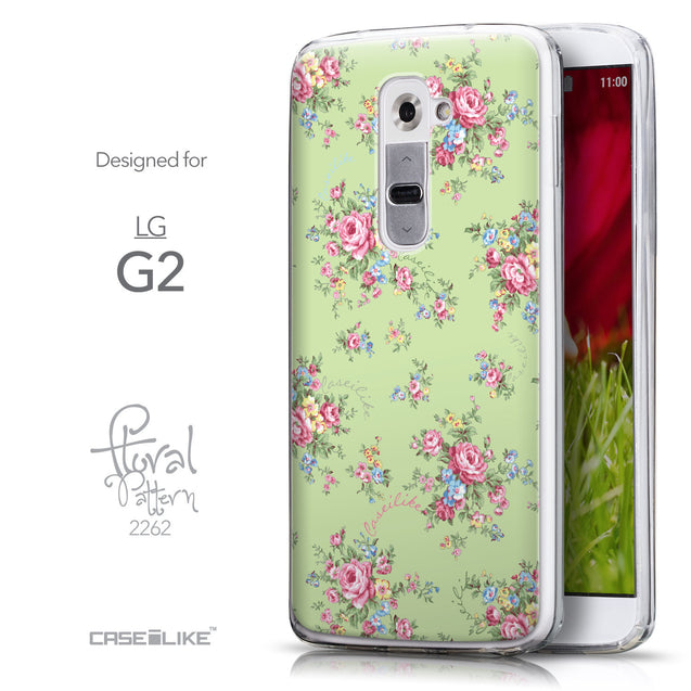 Front & Side View - CASEiLIKE LG G2 back cover Floral Rose Classic 2262