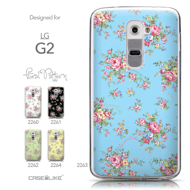 Collection - CASEiLIKE LG G2 back cover Floral Rose Classic 2263