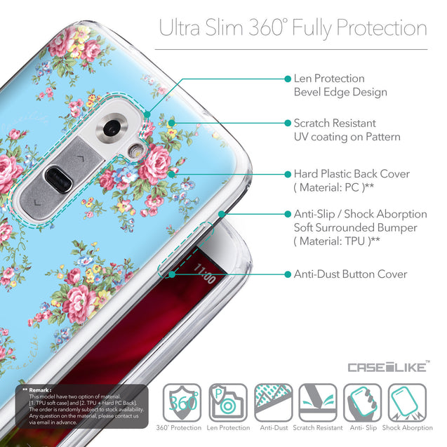 Details in English - CASEiLIKE LG G2 back cover Floral Rose Classic 2263