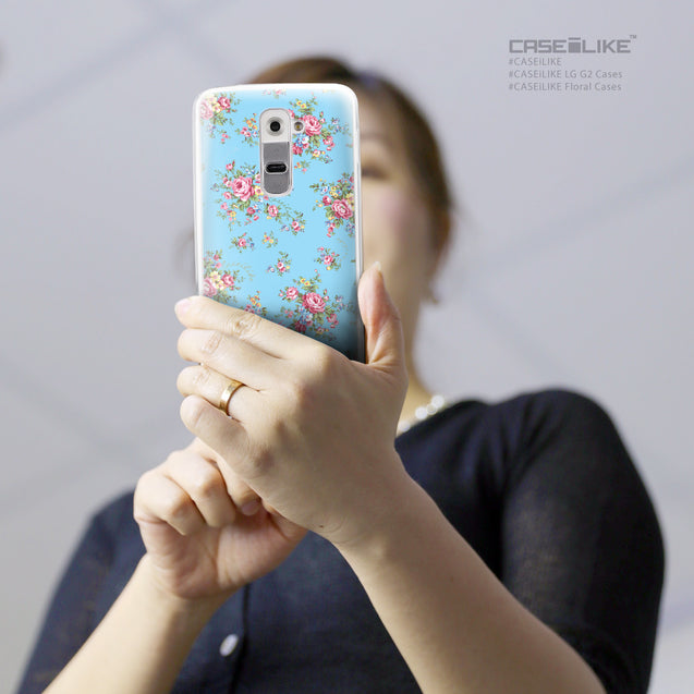 Share - CASEiLIKE LG G2 back cover Floral Rose Classic 2263
