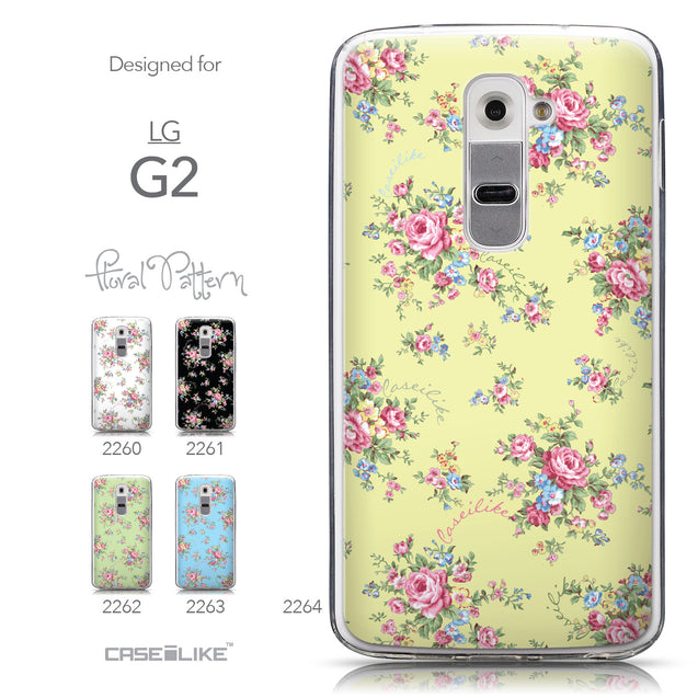 Collection - CASEiLIKE LG G2 back cover Floral Rose Classic 2264