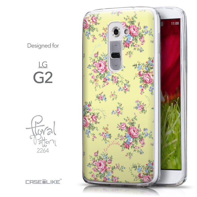 Front & Side View - CASEiLIKE LG G2 back cover Floral Rose Classic 2264