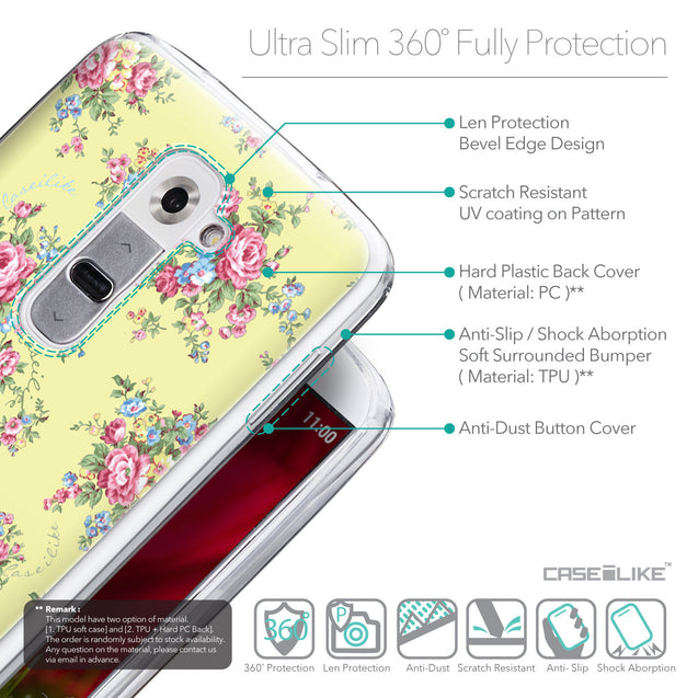 Details in English - CASEiLIKE LG G2 back cover Floral Rose Classic 2264