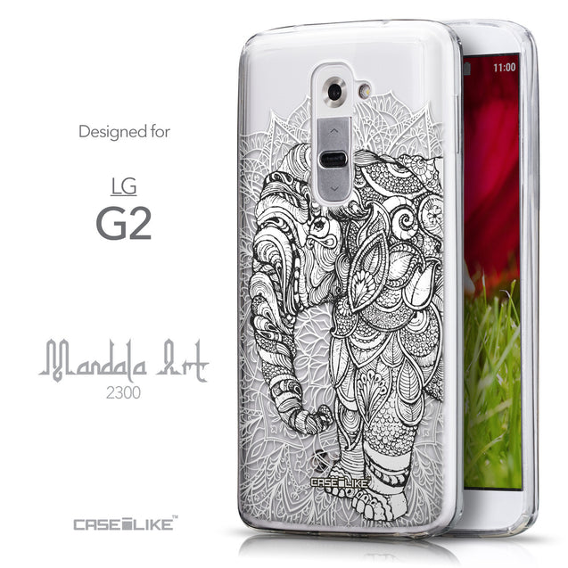 Front & Side View - CASEiLIKE LG G2 back cover Mandala Art 2300