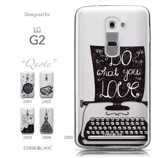 Collection - CASEiLIKE LG G2 back cover Quote 2400
