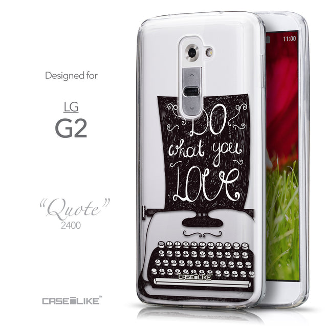 Front & Side View - CASEiLIKE LG G2 back cover Quote 2400
