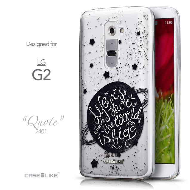 Front & Side View - CASEiLIKE LG G2 back cover Quote 2401