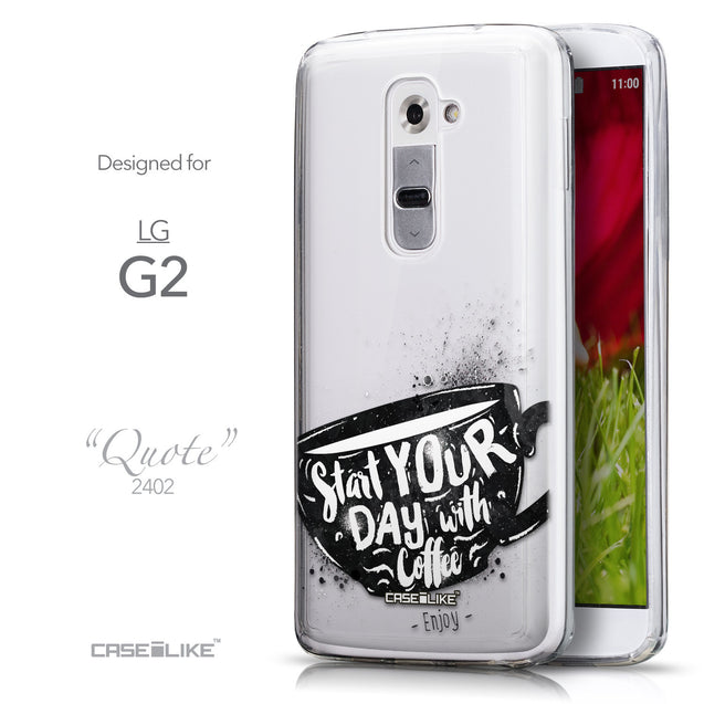 Front & Side View - CASEiLIKE LG G2 back cover Quote 2402