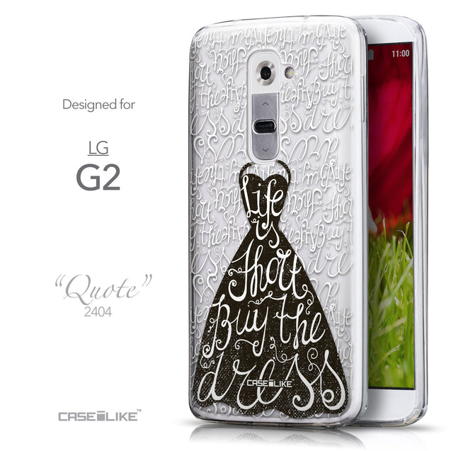Front & Side View - CASEiLIKE LG G2 back cover Indian Tribal Theme Pattern 2053