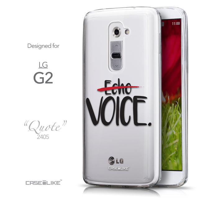 Front & Side View - CASEiLIKE LG G2 back cover Quote 2405