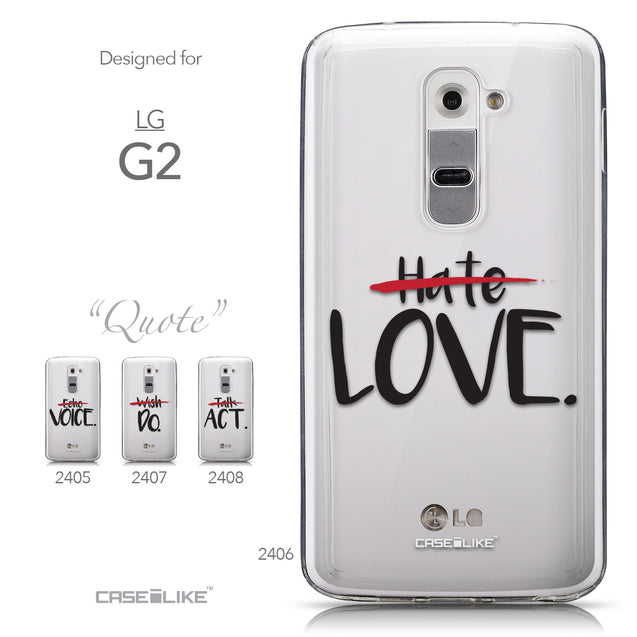 Collection - CASEiLIKE LG G2 back cover Quote 2406