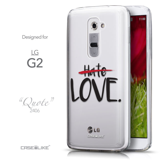 Front & Side View - CASEiLIKE LG G2 back cover Quote 2406