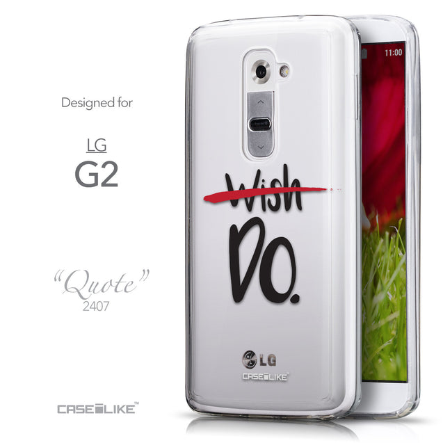 Front & Side View - CASEiLIKE LG G2 back cover Quote 2407