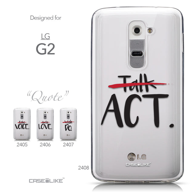 Collection - CASEiLIKE LG G2 back cover Quote 2408