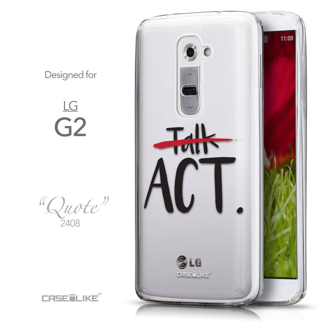 Front & Side View - CASEiLIKE LG G2 back cover Quote 2408