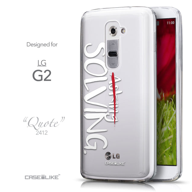 Front & Side View - CASEiLIKE LG G2 back cover Quote 2412