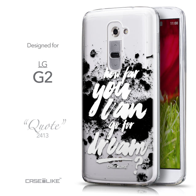 Front & Side View - CASEiLIKE LG G2 back cover Quote 2413