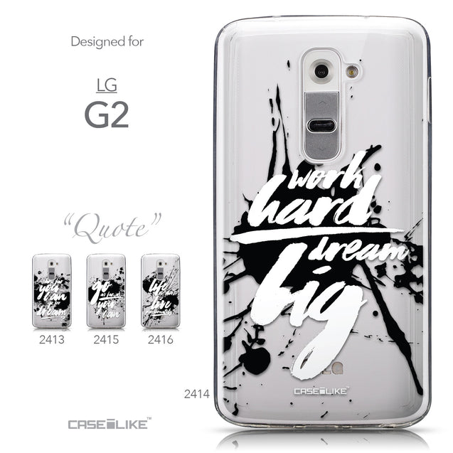 Collection - CASEiLIKE LG G2 back cover Quote 2414