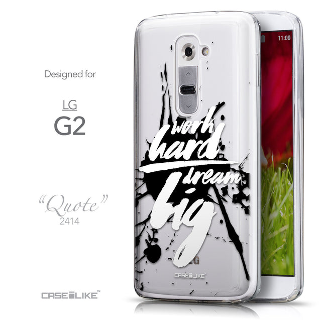 Front & Side View - CASEiLIKE LG G2 back cover Quote 2414