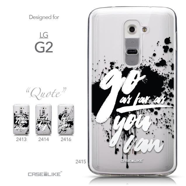 Collection - CASEiLIKE LG G2 back cover Quote 2415