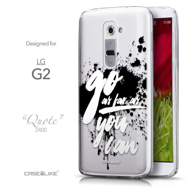 Front & Side View - CASEiLIKE LG G2 back cover Quote 2415