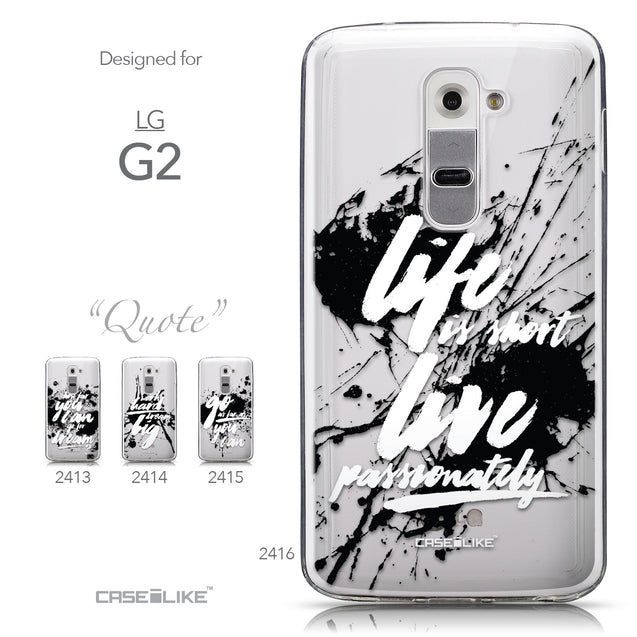 Collection - CASEiLIKE LG G2 back cover Quote 2416