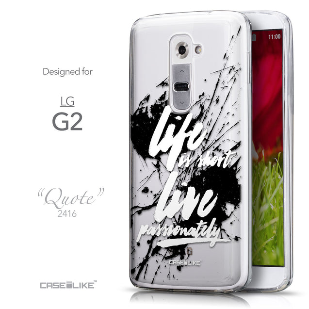 Front & Side View - CASEiLIKE LG G2 back cover Quote 2416