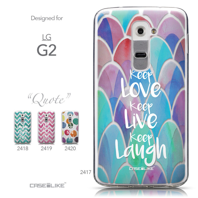 Collection - CASEiLIKE LG G2 back cover Quote 2417