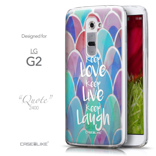 Front & Side View - CASEiLIKE LG G2 back cover Quote 2417
