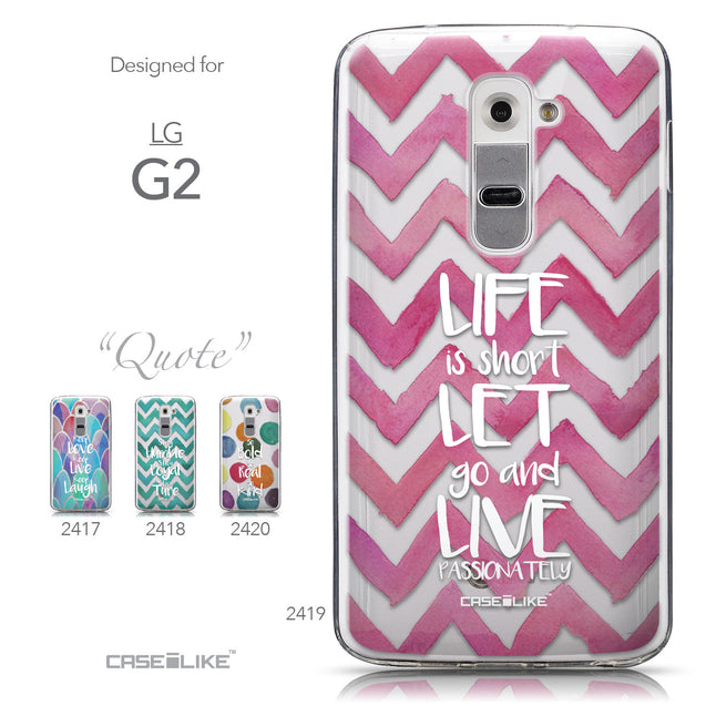 Collection - CASEiLIKE LG G2 back cover Quote 2419