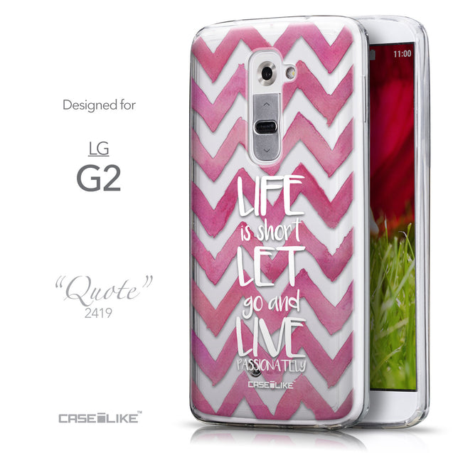 Front & Side View - CASEiLIKE LG G2 back cover Quote 2419