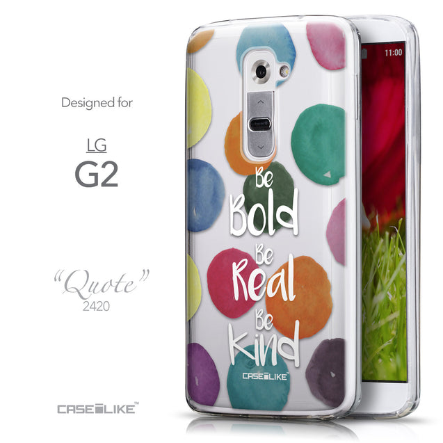 Front & Side View - CASEiLIKE LG G2 back cover Quote 2420