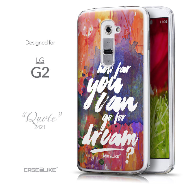 Front & Side View - CASEiLIKE LG G2 back cover Quote 2421