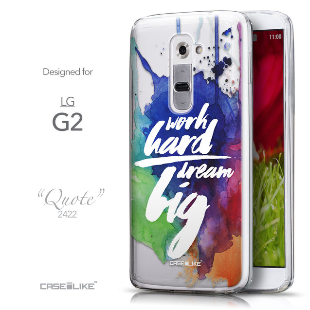 Front & Side View - CASEiLIKE LG G2 back cover Quote 2422