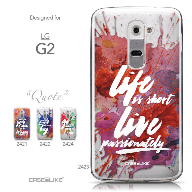 Collection - CASEiLIKE LG G2 back cover Quote 2423